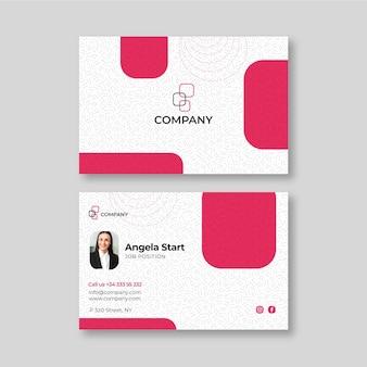 Modelo de cartão de negócios de mulher