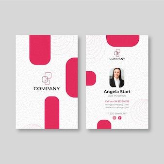 Modelo de cartão de negócios de mulher Vetor Premium