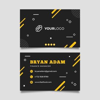 Modelo de cartão de negócios de restaurante de comida americana