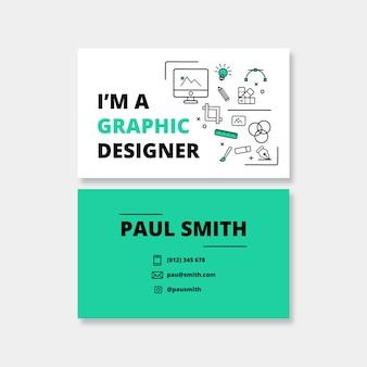 Modelo de cartão de negócios - designer gráfico