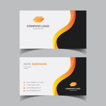 Modelo de cartão de negócios elegante corporativo