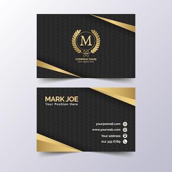 Modelo de cartão de negócios elegante de luxo