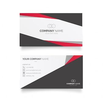 Modelo de cartão de negócios elegante