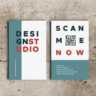 Modelo de cartão de negócios engraçado designer gráfico