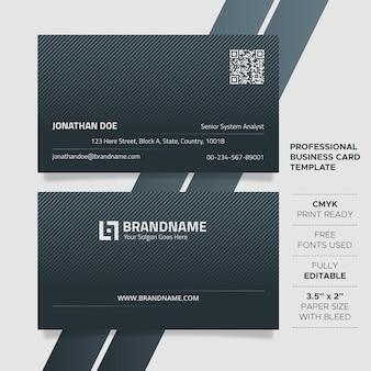 Modelo de cartão de negócios exclusivo moderno