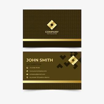 Modelo de cartão de negócios extravagante