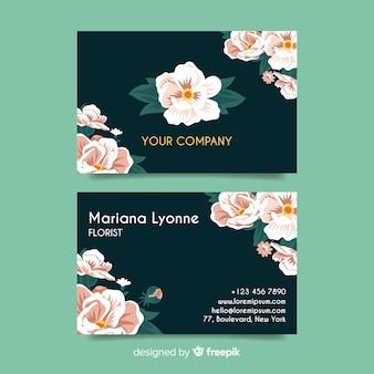 Modelo de cartão de negócios floral elegante