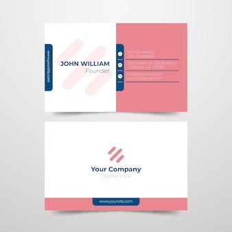 Modelo de cartão de negócios - fundador da empresa