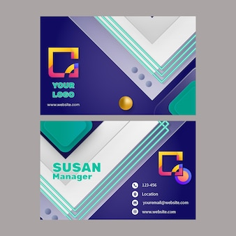 Modelo de cartão de negócios horizontal de marketing