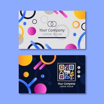 Modelo de cartão de negócios horizontal fofo