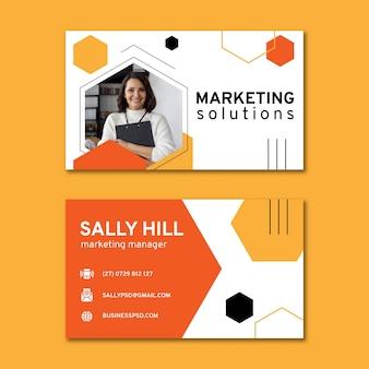 Modelo de cartão de negócios horizontal geral