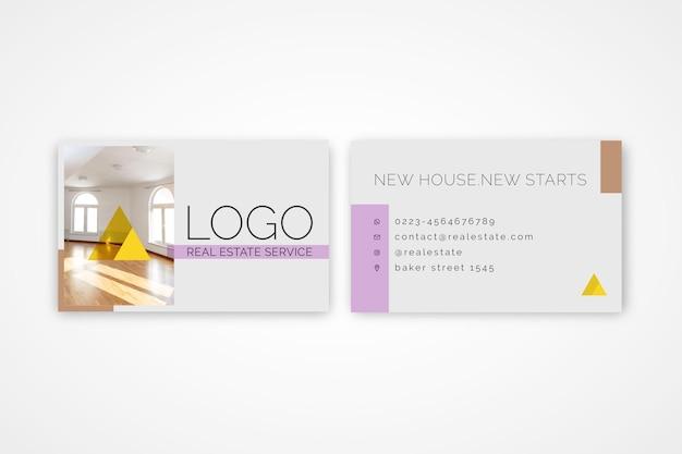Modelo de cartão de negócios imobiliário Vetor Premium