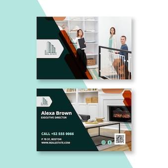 Modelo de cartão de negócios imobiliário