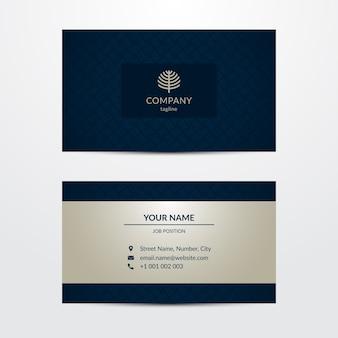 Modelo de cartão de negócios luxuoso
