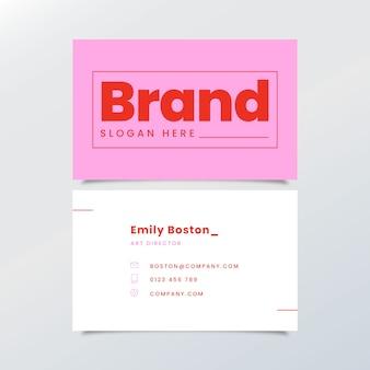 Modelo de cartão de negócios mínimo colorido