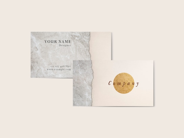 Modelo de cartão de negócios mínimo de luxo