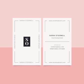 Modelo de cartão de negócios mínimo