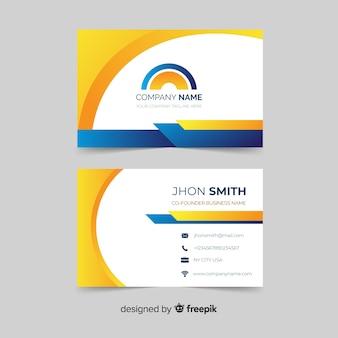 Modelo de cartão de negócios moderno abstrato