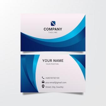 Modelo de cartão de negócios moderno azul