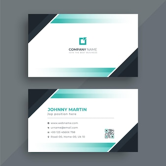 Modelo de cartão de negócios moderno corporativo