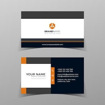 Modelo de cartão de negócios moderno e criativo de vetor