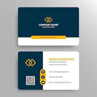 Modelo de cartão de negócios moderno e profissional