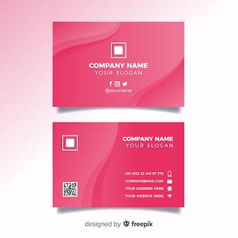 Modelo de cartão de negócios monocromático abstrato