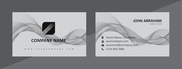 Modelo de cartão de negócios preto dinâmico & cinzento natural
