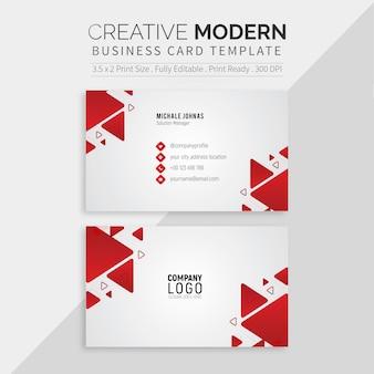 Modelo de cartão de negócios profissional branco