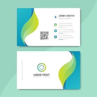 Modelo de cartão de negócios profissional moderno