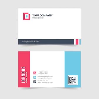 Modelo de cartão de negócios simples moderno