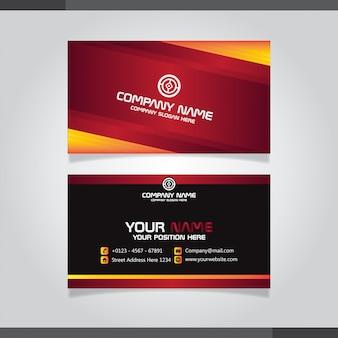 Modelo de cartão de negócios vermelho e orage