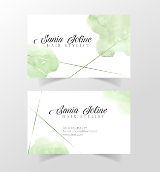 Modelo de cartão de nome comercial elegante escova
