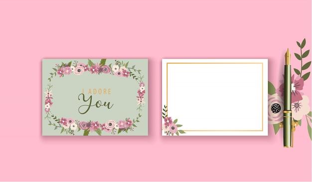 Modelo de cartão de primavera
