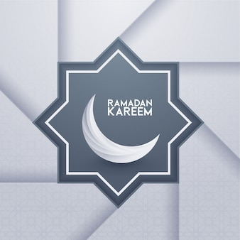 Modelo de cartão de ramadã kareem islâmico com padrão geomérico. ilustração vetorial