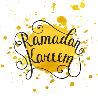 Modelo de cartão de ramadã kareem