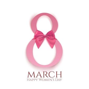 Modelo de cartão de saudação isolado no branco. fundo ou brochura do dia internacional da mulher.
