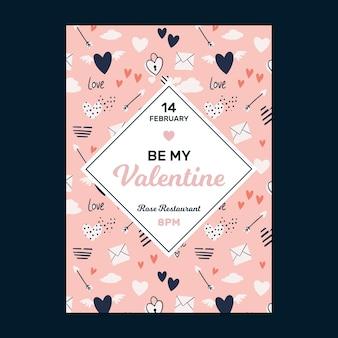 Modelo de cartão de saudação para o dia dos namorados