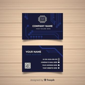 Modelo de cartão de tecnologia