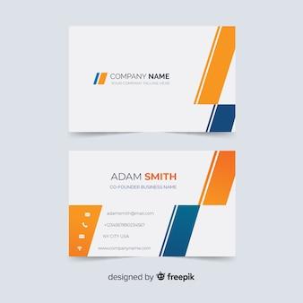 Modelo de cartão de visita abstrata com formas