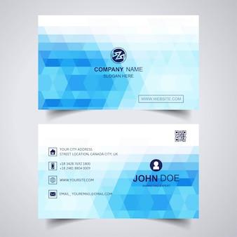 Modelo de cartão de visita abstrato azul geométrico