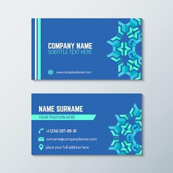 Modelo de cartão de visita abstrato azul verde