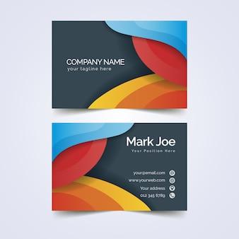 Modelo de cartão de visita abstrato colorido estilo