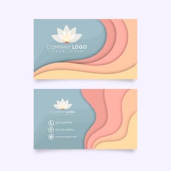Modelo de cartão de visita abstrato colorido