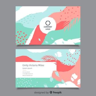 Modelo de cartão de visita abstrato pintado