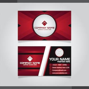 Modelo de cartão de visita abstrato vermelho