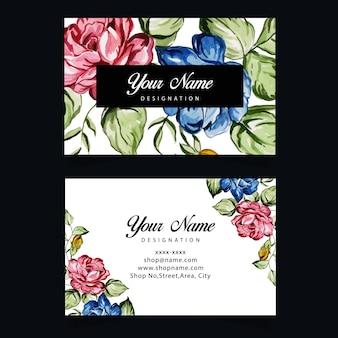 Modelo de cartão-de-visita - aguarela Vetor Premium