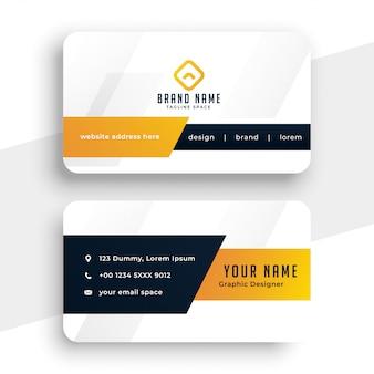 Modelo de cartão de visita amarelo moderno abstrato