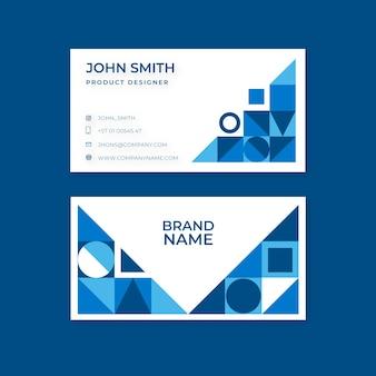Modelo de cartão de visita azul clássico abstrato