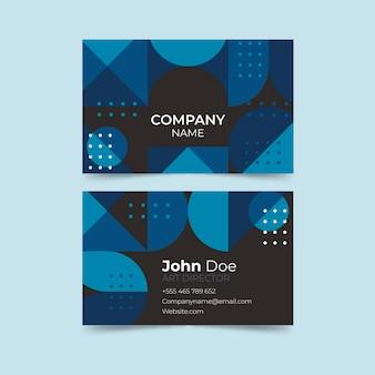Modelo de cartão de visita azul clássico